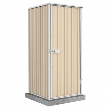 Ezi Compact Shed with Single Door - 0.78m x 0.78m Colorbond Classic Cream