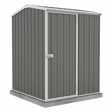 Premier Garden Shed - Single Door - 1.52m x 1.52m Colorbond Woodland Grey