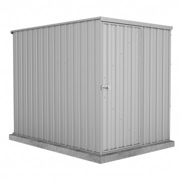 Basic Single Door Garden Shed 1.52m x 2.26m Zincalume Isolated