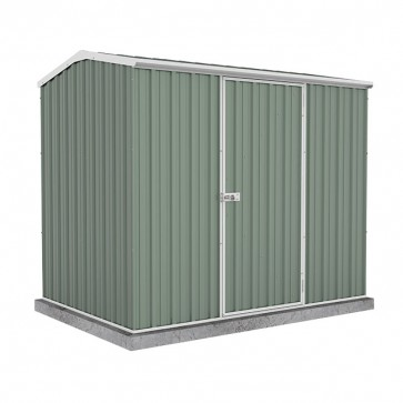 Premier Garden Shed with Single Door - 2.26m x 1.52m Colorbond Pale Eucalypt