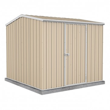 Premier Garden Shed with Single Door - 2.26m x 2.26m Colorbond Classic Cream