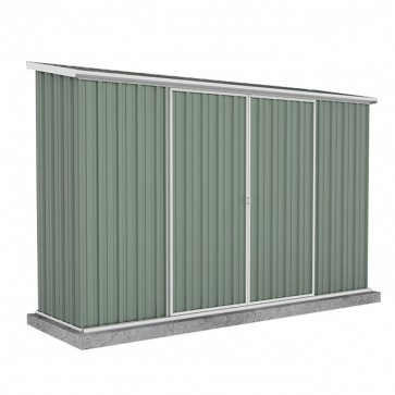 Ezislider Double Door Garden Shed Colorbond Pale Eucalypt