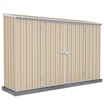 ECO Skillion Roof 3m x 0.78m Double Door Shed - Merino