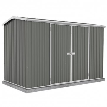 Premier Garden Shed with Double Door - 3m x 1.52m x 1.95m Colorbond Woodland Grey