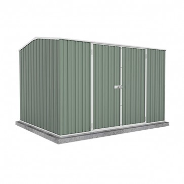 Premier Garden Shed with Double Door - 3m x 2.26m x 2m Colorbond Pale Eucalypt