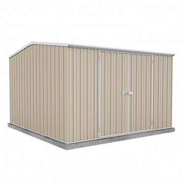 ECO Gable Roof 3m x 3m x 2.06m Double Door Shed - Paperbark
