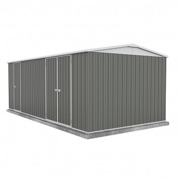 Highlander Garden Shed - Double Door 6m x 3m Colorbond Woodland Grey