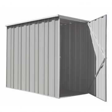 YardSaver Shed F36 - Slimline Flat Roof Side Entry - 2.105m x 1.07m - Zinc