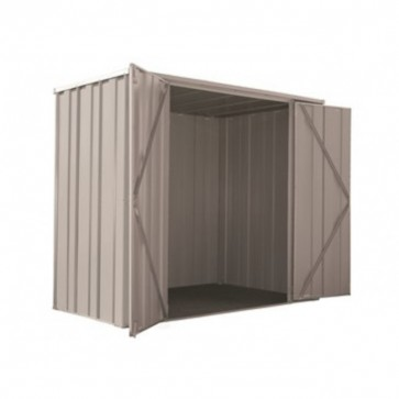 YardSaver Shed F63 - Double Door Flat Roof - 2.105m x 1.07m - Zinc