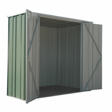 YardSaver Shed F62 - Double Door Flat Roof - 2.105m x 0.72m - Colour