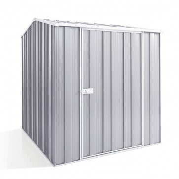 YardSaver Shed G56 - Single Door Gable Roof - 1.76m x 2.1m - Zinc