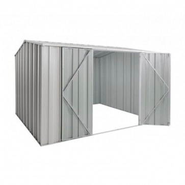 YardSaver Shed G98 - Double Door Gable Roof - 3.145m x 2.8m - Zinc