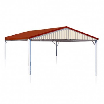 YardPro Carport Double - Gable Roof - 5.9m x 5.9m x 2.4m - W50 - C2 - Colour