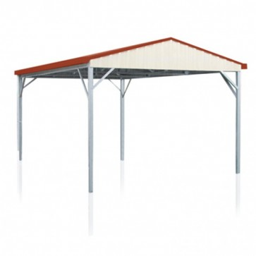 YardPro Carport Single - Gable Roof - 3.9m x 5.9m x 2.4m - W50 - C2 - Colour