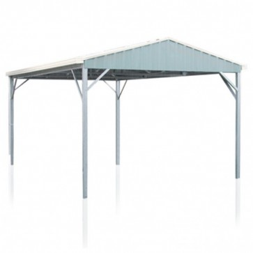 YardPro Carport Single - Gable Roof - 3.9m x 5.9m x 3m - W50 - C2 - Zinc