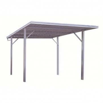 YardPro Carport Single - Flat Roof - 3m x 5.5m x 2.4m - Zinc