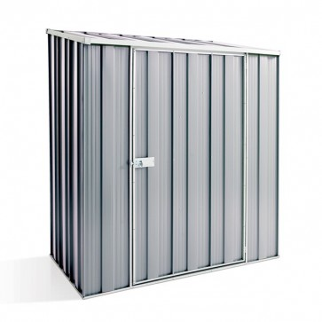 YardSaver Shed S53 - Single Door Skillion Roof - 1.76m x 1.07m - Zinc
