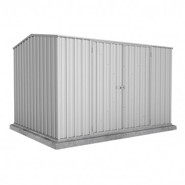 Premier Garden Shed with Double Door - 3m x 2.26m x 2m Zincalume