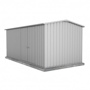 Workshop Shed 4.5m x 2.26 - Double Door Zincalume