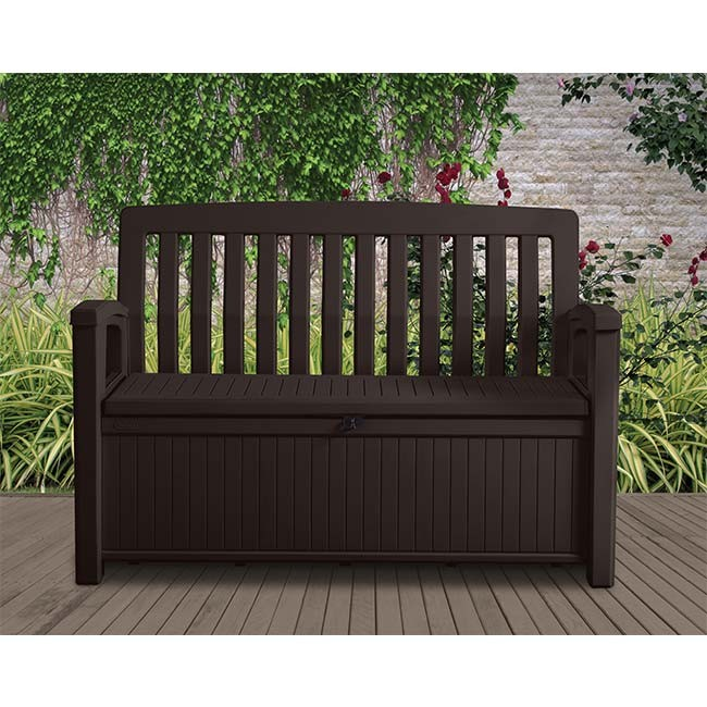 Astonishing Keter 227L Patio Storage Bench Brown Forskolin Free Trial Chair Design Images Forskolin Free Trialorg