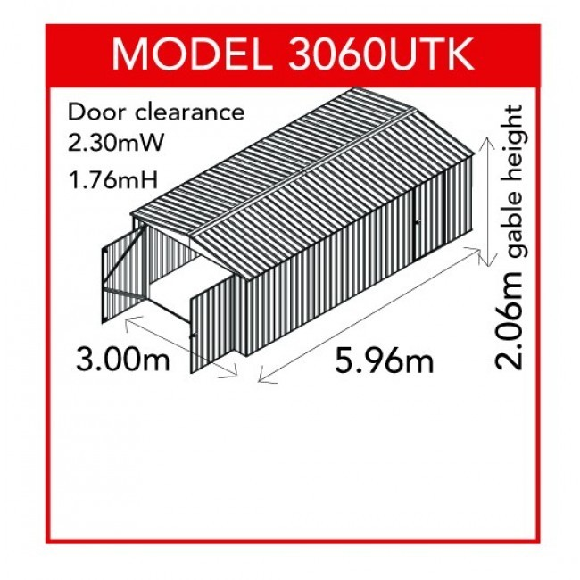 Garden Sheds 3m X 3m utility garden shed 3m x 6m with gable roof - double doors