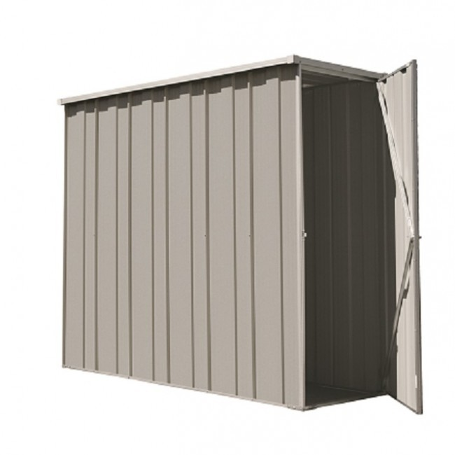 YardSaver Shed F26   Slimline Flat Roof Side Entry   2.105m X 0.72m   Zinc