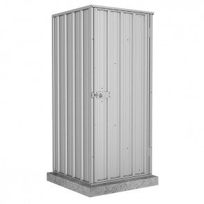 Ezi Compact Shed with Single Door - 0.78m x 0.78m Zincalume