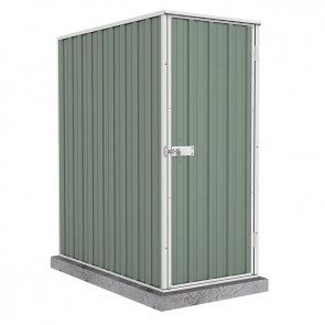 Ezislim Single Door Garden Shed 0.78m x 1.52m Colorbond Pale Eucalypt