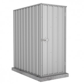 Ezislim Single Door Garden Shed 0.78m x 1.52m Zincalume