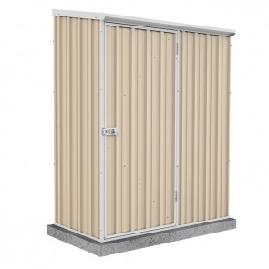 Spacesaver Shed - 1.52m x 0.78m - Single Door Colorbond Classic Cream