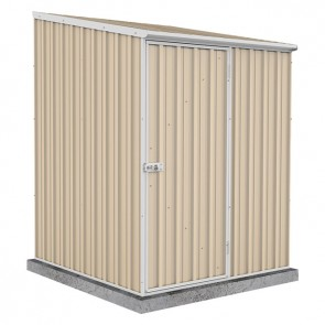 Spacesaver Shed - 1.52m x 1.52m - Single Door Classic Cream