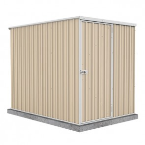 Basic Single Door Garden Shed 1.52m x 2.26m Classic Cream