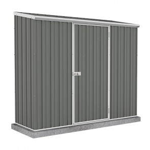 Spacesaver Shed - 2.26m x 0.78m - Single Door Colorbond Woodland Grey