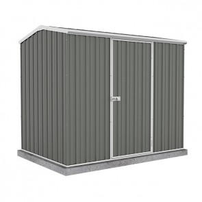ECO-NOMY Shed - Single Door - 2.26m x 1.52m Colorbond Grey