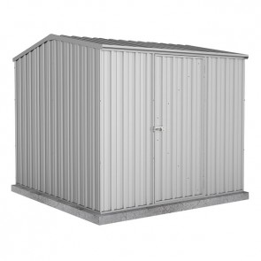 Premier Garden Shed with Single Door - 2.26m x 2.26m Zincalume
