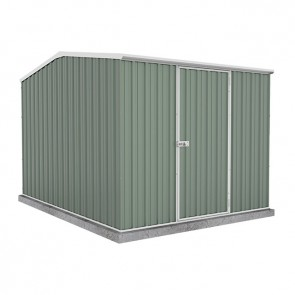 Premier Garden Shed with Single Door - 2.26m x 3m Colorbond Pale Eucalypt