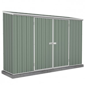 Spacesaver Shed - 3m x 0.78m - Single Door Colorbond Pale Eucalypt