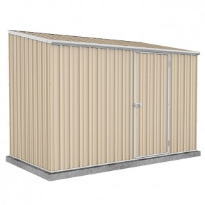 Spacesaver Shed - 3m x 2.26m - Single Door Colorbond Classic Cream