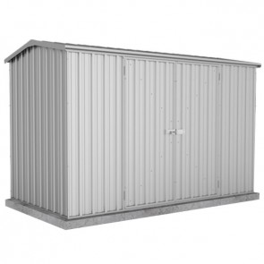 Premier Garden Shed with Double Door - 3m x 1.52m x 1.95m Zincalume