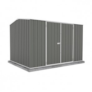 ECO-NOMY Shed - Double Door - 3m x 2.26m Colorbond Grey