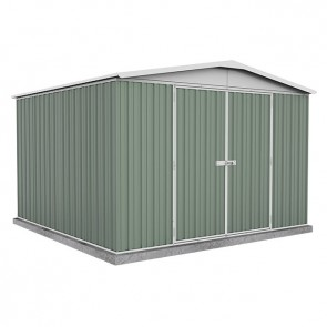 Regent Garden Shed - Double Door - 3m x 2.92m Colorbond Pale Eucalypt
