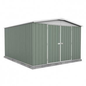 ECO-NOMY Regent Shed - Double Door - 3m x 3.66m Green