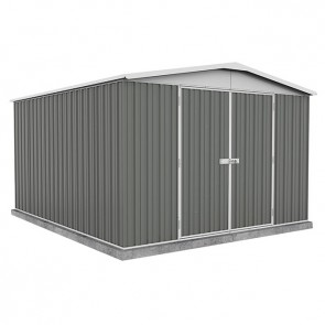 Regent Garden Shed - Double Door - 3m x 3.66m Colorbond Woodland Grey