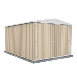 Highlander Garden Shed - Triple Door 3m x 4.48m Colorbond Classic Cream
