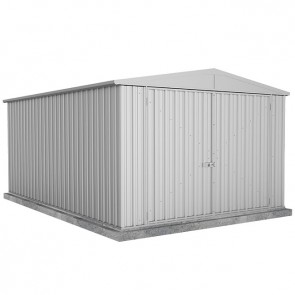 Utility Garden Shed with Gable Roof - Double Doors - 3m x 4.5m Zincalume
