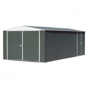 ECO-NOMY Utility Shed - Triple Door - 3m x 5.22m Grey