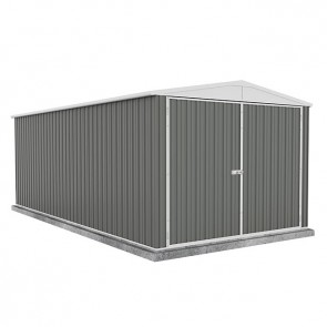 Highlander Garden Shed - Triple Door 3m x 6m Colorbond Woodland Grey