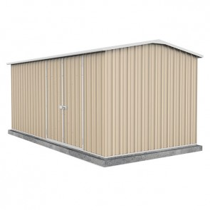 Workshop Shed 4.5m x 2.26 - Double Door Colorbond Classic Cream