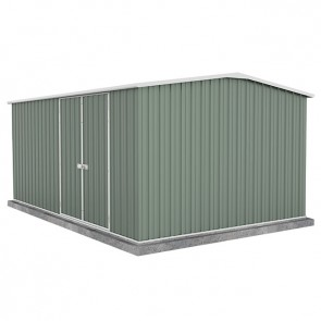 Workshop Shed 4.5m x 3 - Double Door Colorbond Pale Eucalypt