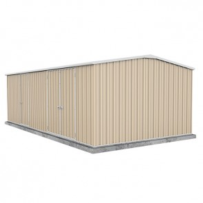 Workshop Shed 6m x 3m - Triple Door Colorbond Classic Cream